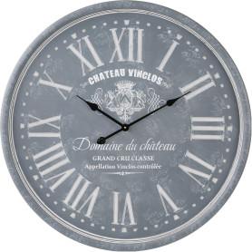 Часы настенные 52 см цвет серо-голубой