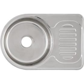Мойка VD-6745 67x45x17,5 см, нержавеющая сталь, цвет серебристый