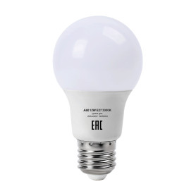 Лампа светодиодная E27 220 В 12 Вт груша матовая 960 лм жёлтый свет
