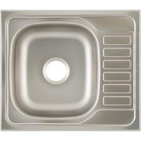 Мойка 58x50x16 см, лен, нержавеющая сталь, цвет серебристый
