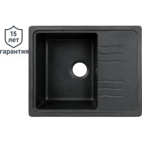 Мойка DELINIA 60x48x19.3 см, кварц, цвет чёрный