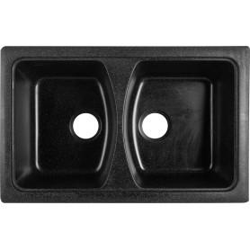 Мойка КМ79-50 79x50x18.6 см, мрамор, цвет чёрный