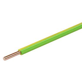 Провод Electraline ПуВ 1x2.5, на отрез, цвет желто-зеленый