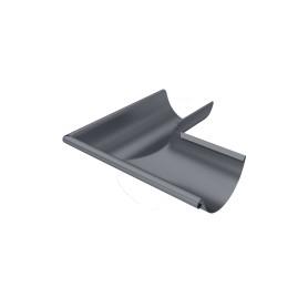 Угол желоба внешний Ø125 мм темно-серый