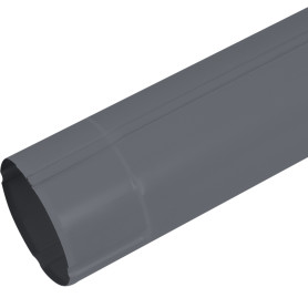 Труба круглая Ø90 3000 мм темно-серая