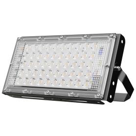Прожектор-трансформер светодиодный уличный SMD 50 Вт IP65, цвет чёрный