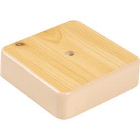 Коробка распределительная 75x75x20 мм цвет сосна, IP20
