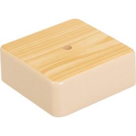 Коробка распределительная 75x75x28 мм цвет сосна, IP21