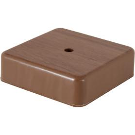 Коробка распределительная 75x75x20 мм цвет дуб, IP20