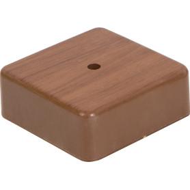 Коробка распределительная 75x75x28 мм цвет дуб, IP20
