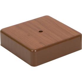 Коробка распределительная 100x100x29 мм цвет дуб, IP20