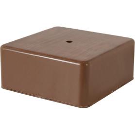Коробка распределительная 100x100x44 мм цвет дуб, IP20