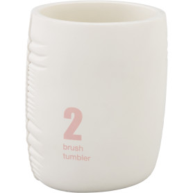 Стакан для зубных щёток Zepellin полирезин цвет белый/розовый