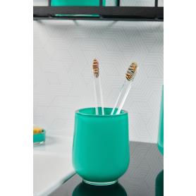 Стакан для зубных щёток Brilliante полирезин цвет зелёный/бирюзовый