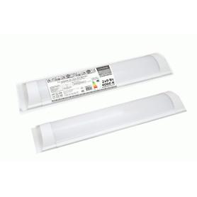 Светильник линейный светодиодный 590 мм 2х9 Вт, нейтральный белый свет,