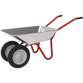 Тачка садовая разборная 2-в-1 одно- и двухколесная 55 л 50-100 кг