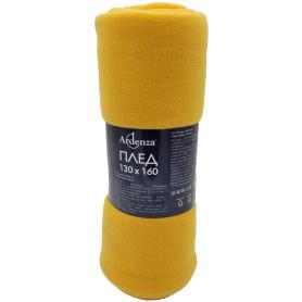 Плед «Bolero» 130х160 см флис цвет жёлтый