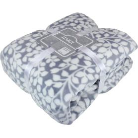 Плед «Гранада» 180x200 см фланель цвет серый