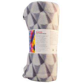 Плед «Роммани» 140x200 см флис цвет серый