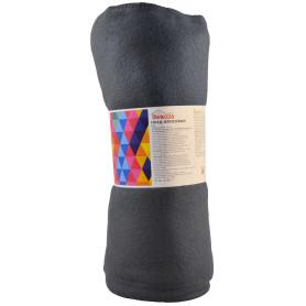 Плед «Дуар» 140x200 см флис цвет серый