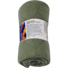 """Плед """"Sarov"""" 140x200 см флис цвет зелёный"""
