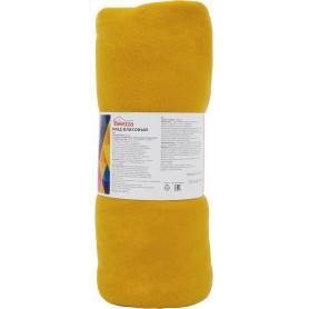 Плед «Темара» 140x200 см флис цвет жёлтый