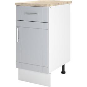 Шкаф напольный «Тортора» 40x86х60 см, МДФ, цвет серый
