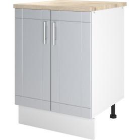 Шкаф напольный «Тортора» 60x86х60 см, МДФ, цвет серый