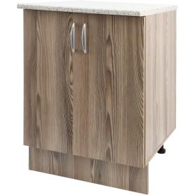 Шкаф напольный Delinia «Дуб Шато Аква» 60x85х60 см, ЛДСП, цвет коричневый