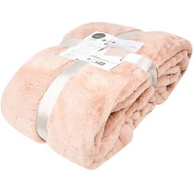 Плед Enalie Bistro 5 200х220 см полиэстер цвет светло-розовый
