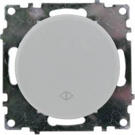 Выключатель проходной встраиваемый Onekey Florence 1 клавиша, цвет серый