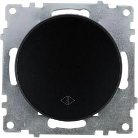 Выключатель проходной встраиваемый Onekey Florence 1 клавиша, цвет чёрный