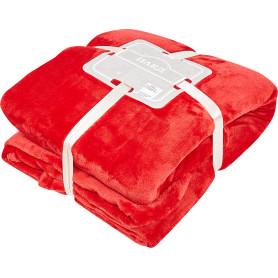 Плед «Гламис» 180х200 см микрофибра цвет красный