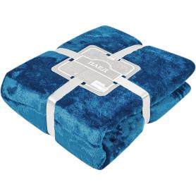 Плед «Эмлиль» 140х200 см фланель цвет синий