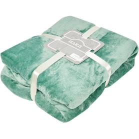 Плед «Эмлиль» 140х200 см фланель цвет зелёный