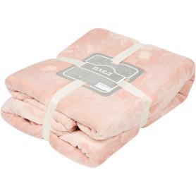 Плед «Эмлиль» 140х200 см фланель цвет розовый