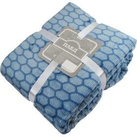 Плед «Марракеш» 180x200 см фланель цвет синий