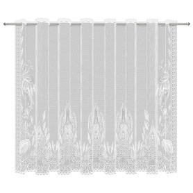 Тюль для кухни без шторной ленты «Ренессанс» 210x165 см цвет белый
