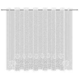 Тюль для кухни без шторной ленты «Рапсодия» 200x165 см цвет белый