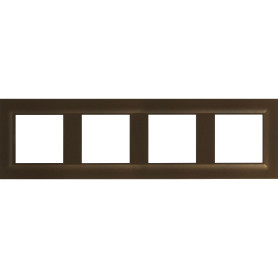 Рамка для розеток и выключателей Legrand Structura 4 поста, цвет магнезиум