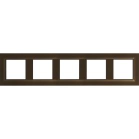 Рамка для розеток и выключателей Legrand Structura 5 постов, цвет магнезиум