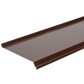 Отлив оконный коричневый 200 мм L=2M