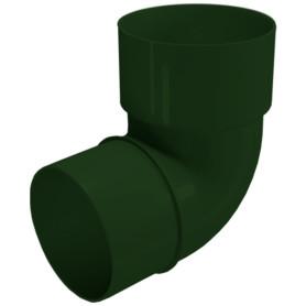 Колено трубы FINEBER Ø80 67° зелёный