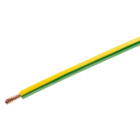 Провод Камкабель ПуГВ 1x10, на отрез, цвет желто-зеленый