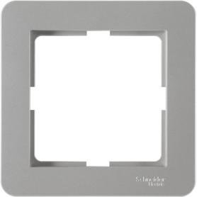 Рамка для розеток и выключателей Schneider Electric W59 Deco 1 пост, цвет платина