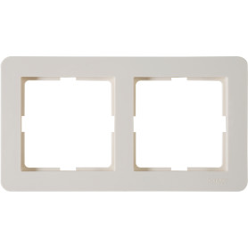 Рамка для розеток и выключателей Schneider Electric W59 Deco 2 поста, цвет слоновая кость