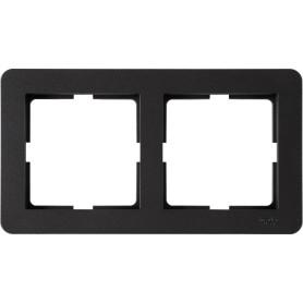 Рамка для розеток и выключателей Schneider Electric W59 Deco 2 поста, цвет графит