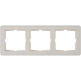 Рамка для розеток и выключателей Schneider Electric W59 Deco 3 поста, цвет слоновая кость