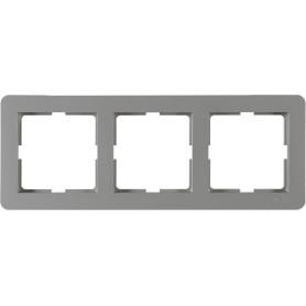Рамка для розеток и выключателей Schneider Electric W59 Deco 3 поста, цвет платина