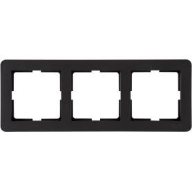 Рамка для розеток и выключателей Schneider Electric W59 Deco 3 поста, цвет графит